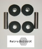 Leaf Spring / Shackle Rear Black Sport Polyurethane Bushes - MK2 Escort